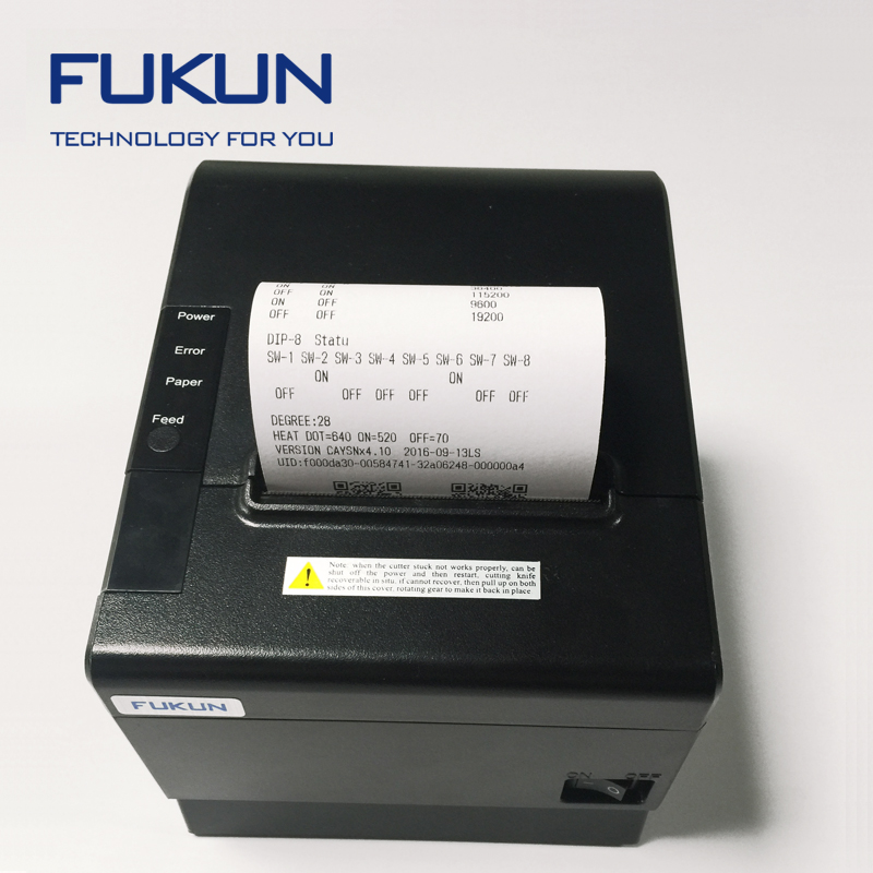 Fukun Promotion Thermal Printer Receipt In High Speed 250mm/sec With Long Life Printhead And Cutter FK--POS80BS