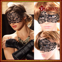 LS-003 Yiwu Caddy Halloween Masquerade sexy cheap party black bat lace mask