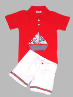 Boys summer set boys polo and shorts toddler summer clothing boys polo