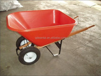 WH9600 220kg capacity large PVC plastic tray wheel barrow