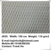 ivory 100% cotton mesh fabric for luxury garment