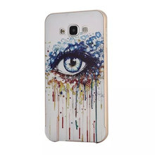 For Samsung E7 Metal Bumper with Floating Silk back Case/Beautifully Design Case For Samsung Z7