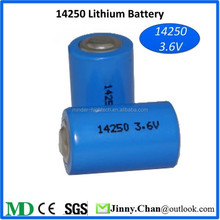 Lithium ion Battery 14250 3.7v