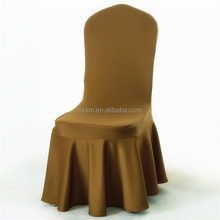 Coffee Color Air Layer Thick Skirting Chair Cover Elegant Chair Cloth