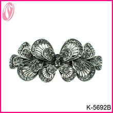 Hot sale antique silver metal butterfly hair claw clip clam