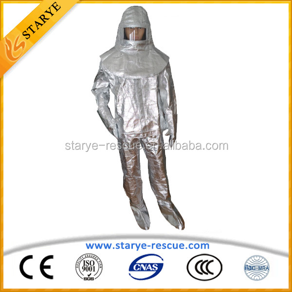 Fire Traning Using High Temperature Resisting Clothing Heat Proof Clothing