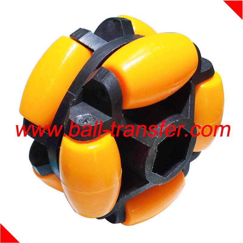 Omnidirectional wheel use of robots trolleys transfer conveyors freight cars luggage plastic nylon mini rotacaster