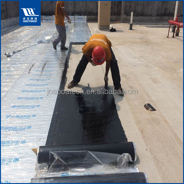 PET Aluminum Foil Covered Self Adhesive Waterproofing in Roofing Sheets