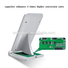 China Supplier Universal 5V 2A Mobile Cell Phone Wireless Adapter Fast Stand Qi Wireless Charger For Samsung
