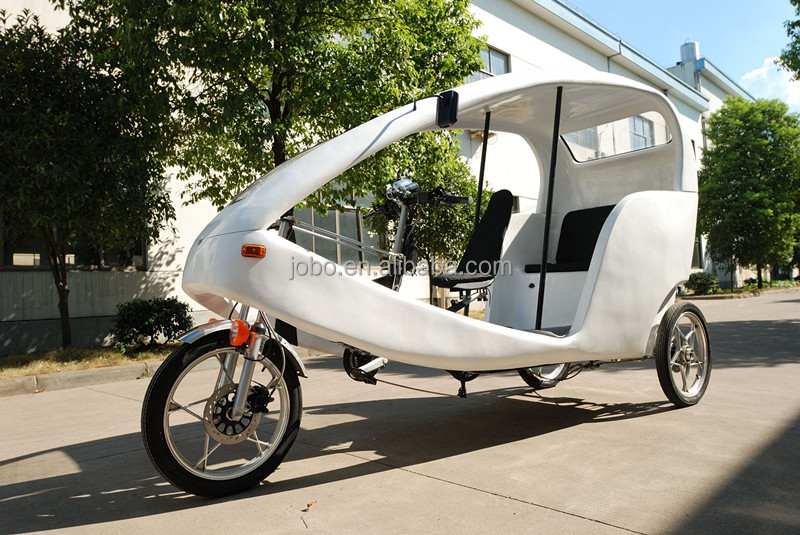 Touring Passenger Tricycle Electric Pedicab Rickshaw in 21 Speed, Velo Taxi