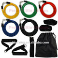 High elastic latex exercise tubing with foam handles