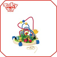 Cheap Children Games made from Wood Lacing Education String Beads String Toddler Baby Brain Development Toys