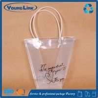 Transparent heart shape plastic EVA bag for ladies