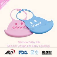 High quality manufacturer of baby silicone bibs BPA free, waterproof silicone baby bib