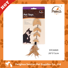 Fish chews cat toy bamboo cat toy