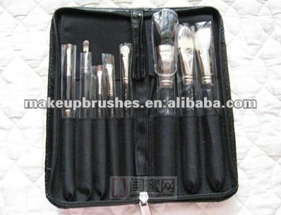 8 pcs brand same quality makeup brush sets with custom printing