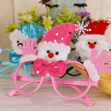New Design Lovely Christmas Santa Claus Snowman No Lens Fancy Decoration Glasses Frame Children Frames