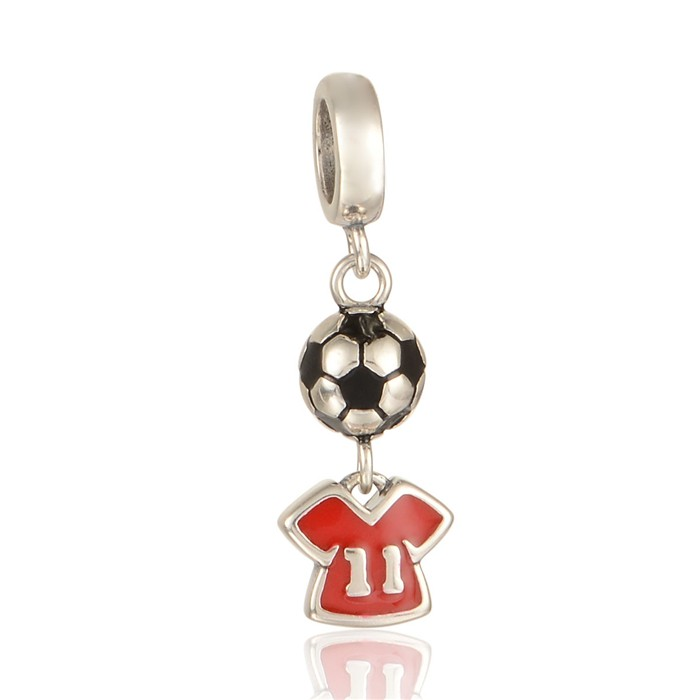 925 sterling silver jewelry football charms