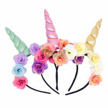 Yiwu Party Supplies DIY Unicorn Headband Easter Bonus Birthday Gift Baby Unicorn Horn Head Band GBIY-383