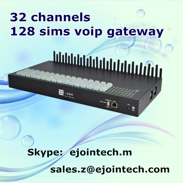 Ejoin good performance 32 ports 128 sim cards asterisk wireless voip gateway goip online firmware update