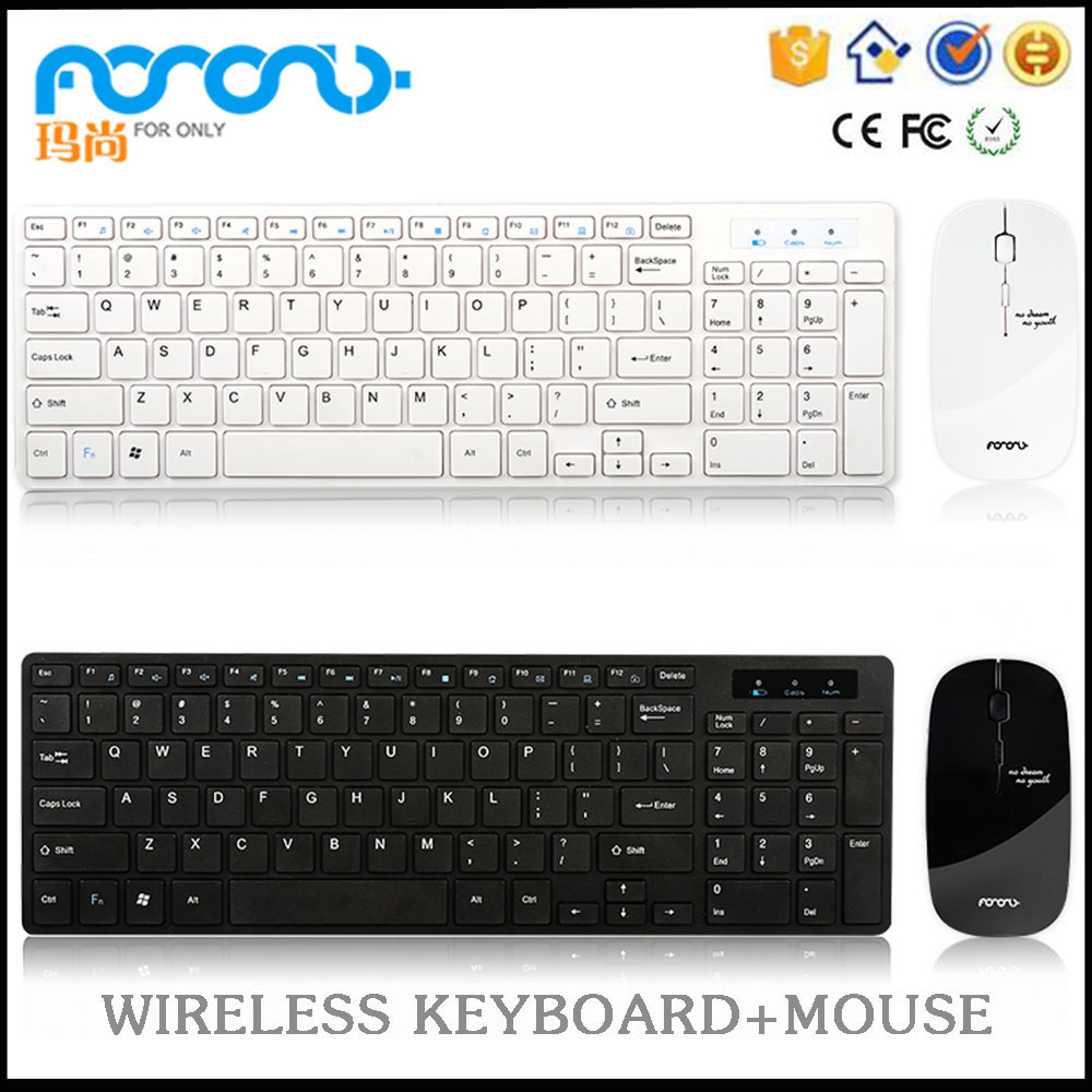 Shenzhen manufacture supply Silent Slim ultra-thin cheap wireless keyboard and mouse