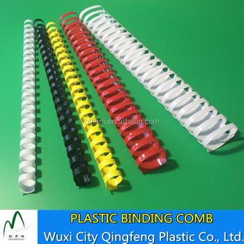 3:1 Pitch Plastic Binding Sprial Black White Clear Binding Combs
