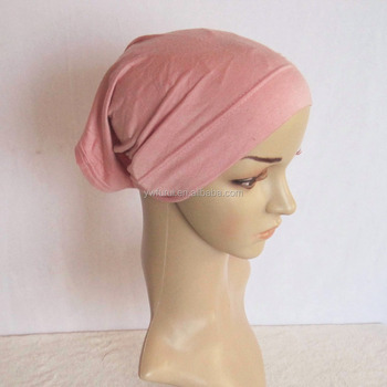 Wholesale New Fashionable Hijab Tube Turban Hats Muslim Cap Plain Bonnet