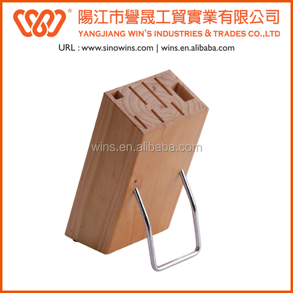 WB-06S82 Wooden Knife Block with Sharpener
