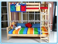 2015 new design colorful double kid bed with stairs WJ276952