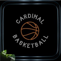 Cardinal Basketball Hot Fix Rhinestone For Clothing