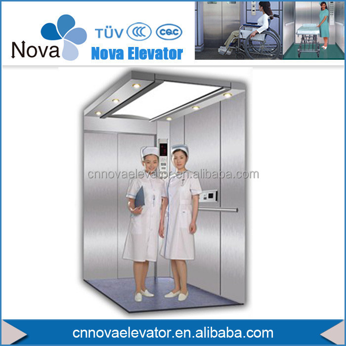 Low Price Gearless Machine Room less Hospital Elevator for Disabled People