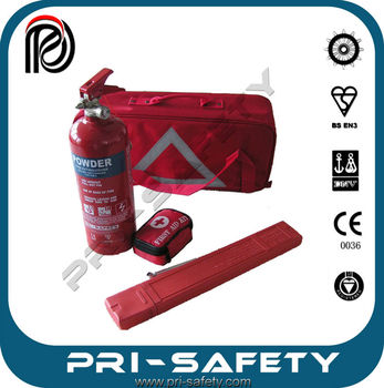Portable 2kg CE type Fire Extinguishers for Emergency Car Kit