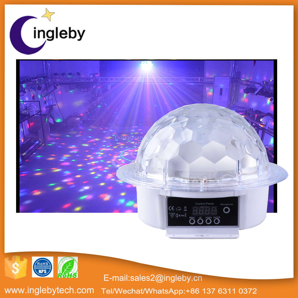 Fashionable colorful bubble effect music activated led disco lights