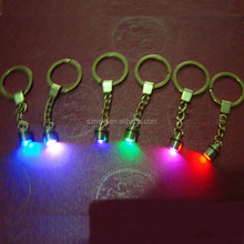 Led blinking flashing magical craft gift chip key chain micro mini led light