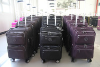custom made branded trolley luggage bag ,leisure international luggage set for car and motorcycle