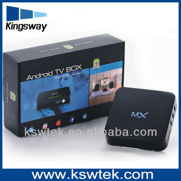 Most popular Amlogic 8726 MX xbmc android tv box for youtube chinese movie