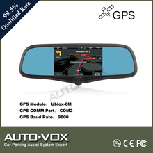5 inch car reverse mirror monitor with bluetooth DVR and GPS