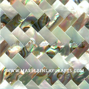 Paua Sea Shell Tile Abalone And Mother Of Pearl Tile