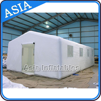 White Inflatable Camping Tent for Sale , Inflatable Army Shelter For Camping