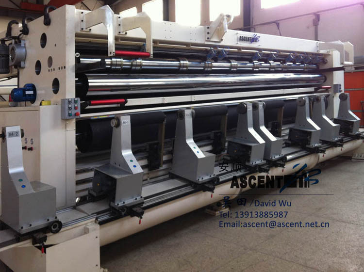 professional Slitting machine for jumbo rolls polyster film wide width VP6