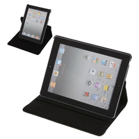 Big Sales 360 Stylish Rotating Leather Case Smart Cover Stand dust-proof for Apple ipad 2 iPad 3 the New ipad Black