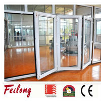 China products white frame side hinged folding door passed AS2047