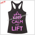 2018 Newest design fancy ladies sports vest GYM stringers singlet