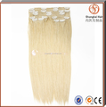 2016 Direct Factory Wholesale blond clip in hair triple weft clip in hair extension