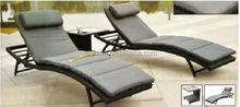 Leisure Outdoor/Resort rattan pool furniture Resin Sun Lounger/chaise/beach/Recliner Chair