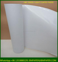 BMPAPER 60gsm 64gsm 70gsm 80gsm LWC/ light weight coated Paper