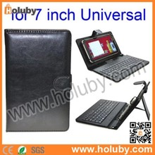 7 Inch Tablet PC Crystal Texture PU Leather Keyboard Case with Holder & Micro USB Cable