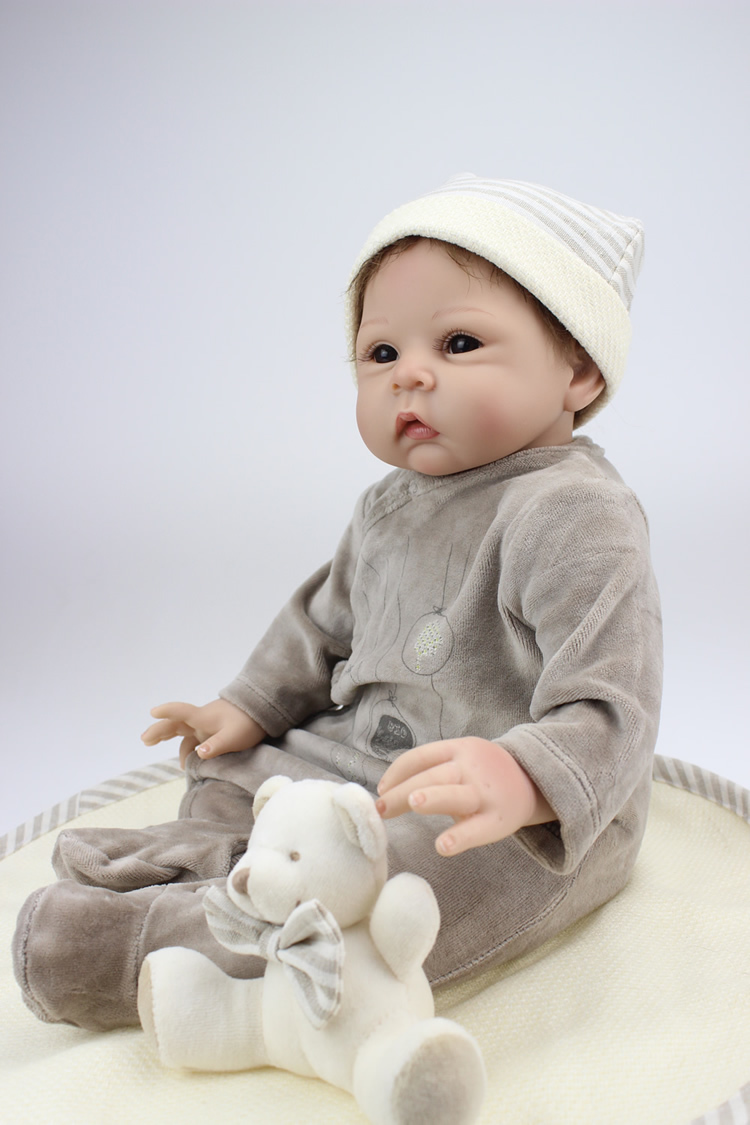 22 Inches Sleeping Baby Life Size Newborn Silicon Doll