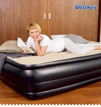 "Bestway High Raised Air Bed 67469 75"" x 38"" x 18"" inflatable Single airbed with built in Pump"