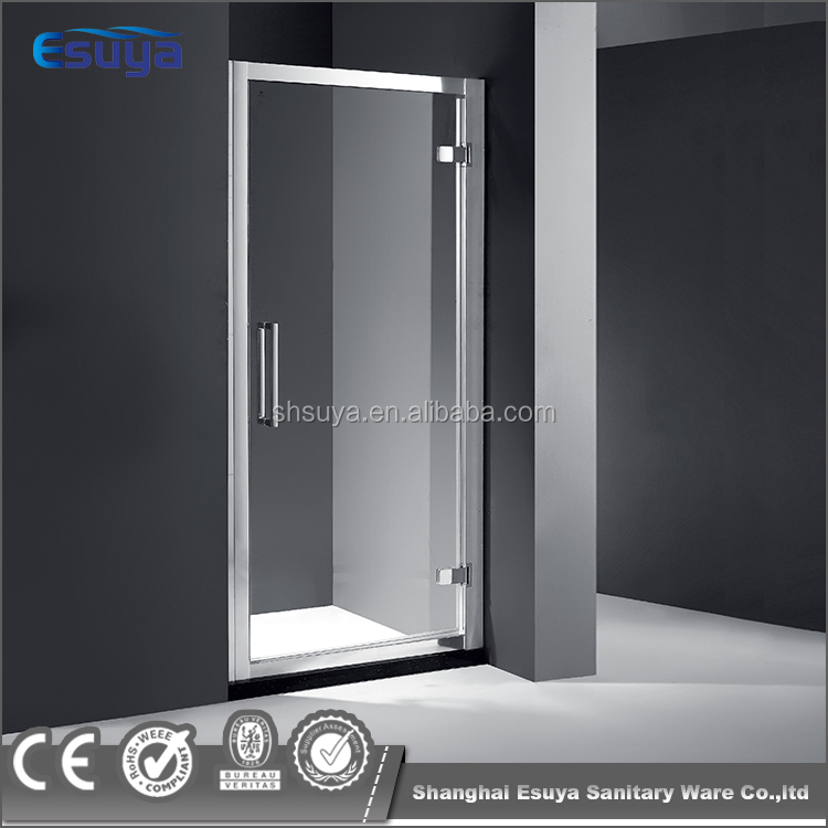 Stainless steel hinges shower door 10mm tempered glass shower screen
